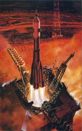 Советский космос в работах советских